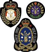 Abstract royal symbol badge