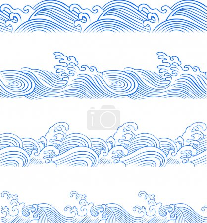 Illustration for Seamless wave illustration - Royalty Free Image