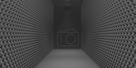 Photo for A room clad in grey sound-proofing foam - Royalty Free Image