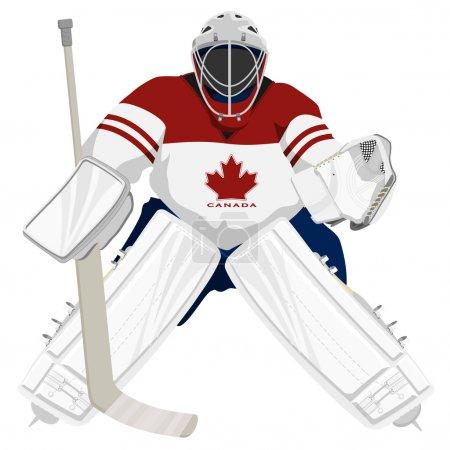 Team Canada hockey goalie