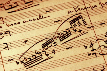 Photo for Detail close-up of vintage sheet music - Royalty Free Image