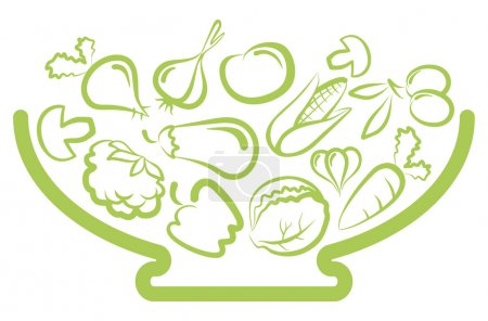Illustration for Set of simple images vegetables - Royalty Free Image