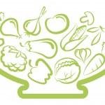 Set of simple images vegetables...