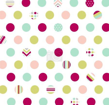 Illustration for Seamless pattern, polka dot fabric, wallpaper - Royalty Free Image