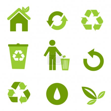 Illustration for Environmental icons - Royalty Free Image