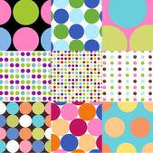 Seamless patterns polka dot set