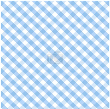 Illustration for Seamless blue plaid pattern - Royalty Free Image