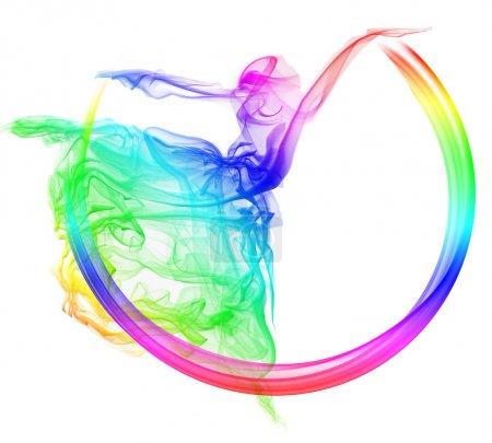 Photo pour Résumé Danseuse de fumée - image libre de droit