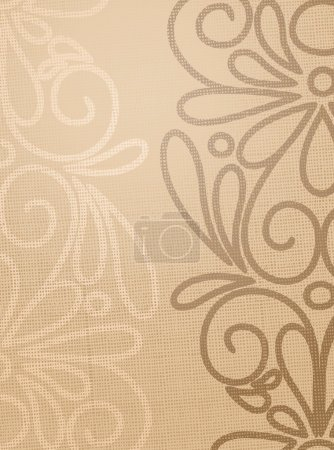 Linen beige structure with pattern drawing.