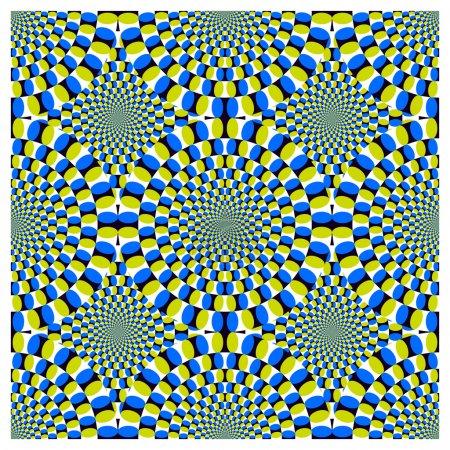 Illustration pour Cycle de rotation de l'illusion optique (EPS) ) - image libre de droit