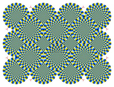 Vector Optical illusion Spin Cycle with snakelike (EPS)