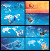 Business and financial technology background