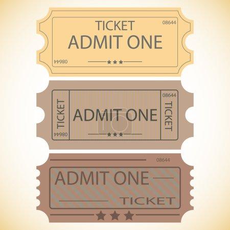 Three tickets.