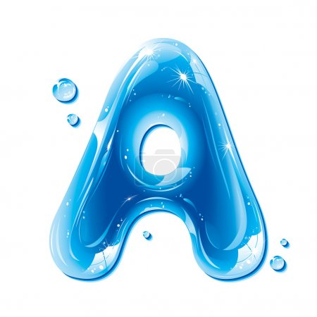 ABC series - Water Liquid Letter - Capital A