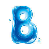 ABC series - Water Liquid Letter - Capital B