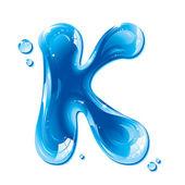 ABC series - Water Liquid Letter - Capital K