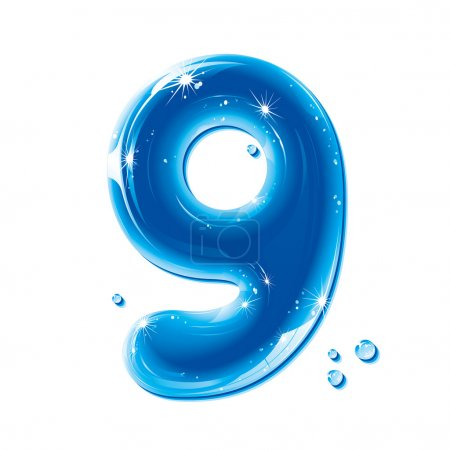 ABC series - Water Liquid Numbers - Number 9