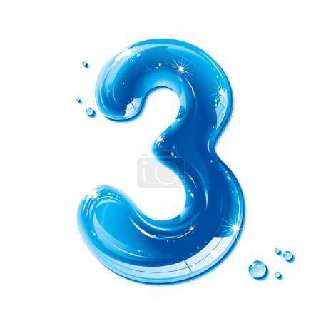 ABC series - Water Liquid Numbers - Number 3
