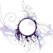 Abstraktní inkoustu kruh rám