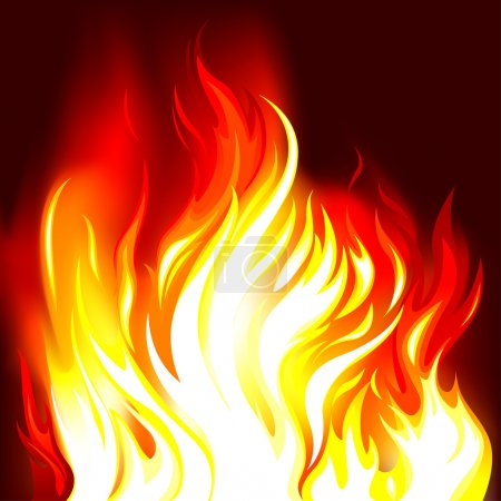 Illustration for Fire Flames Background, editable vector illustration - EPS8 - Royalty Free Image