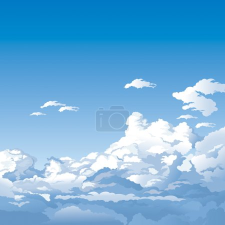 Illustration for Sky With Clouds, editable vector illustration - EPS8 - Royalty Free Image