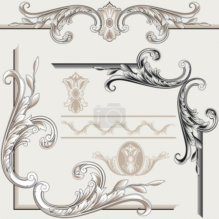 Set of Classic Decor Elements