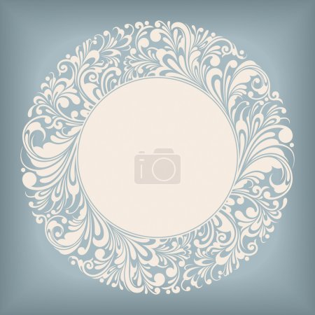 Photo for Circle Frame Floral Ornament Series, editable vector illustration - EPS8 - Royalty Free Image