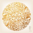 Floral Ornament Circle Background, editable vector...