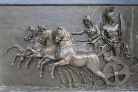 Achillion Palace Bronze Relief