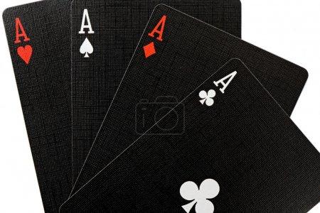 Photo pour Aujourd'hui, j'ai de bonnes mains. Poker d'As - image libre de droit