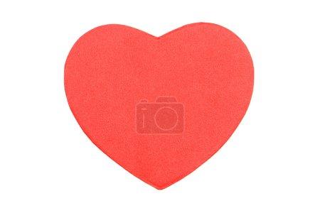 Photo pour Coeur rouge sur fond blanc - image libre de droit