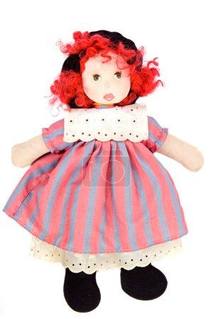 Photo pour Belle poupée en chiffon sur fond blanc - image libre de droit