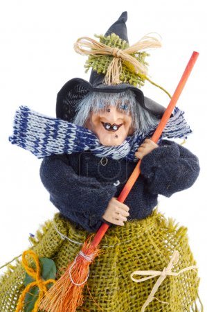 Photo for Photo of one witch and its broom - Royalty Free Image