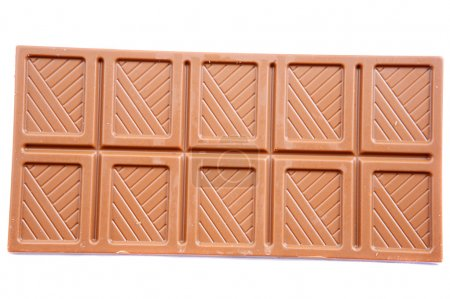 Chocolate bar a over white background...