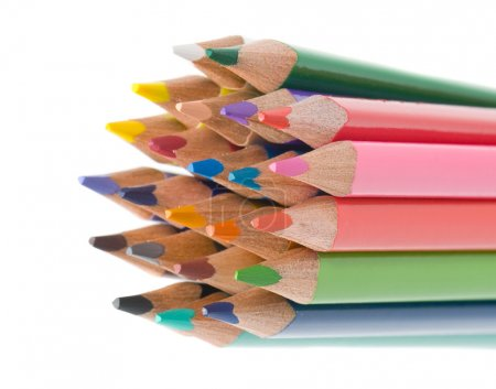 Many pencils of different colors