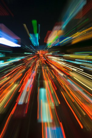 Photo for Traffic lights in motion blur - Royalty Free Image