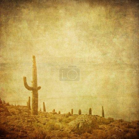 Photo pour Fond grunge avec paysage de Far west - image libre de droit