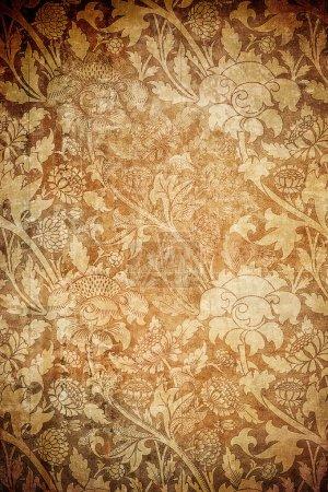 Photo pour Fond floral grunge avec espace pour le texte ou l'image - image libre de droit