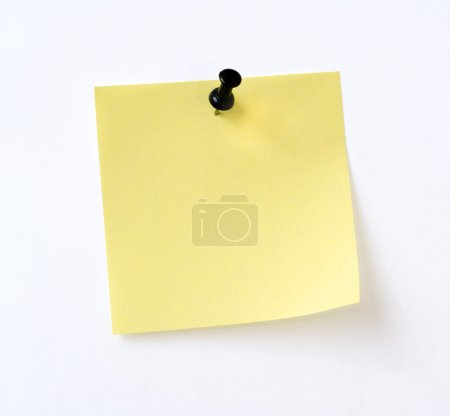 Isolated yellow note