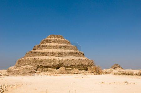 Step pyramid in Saqqara, Egypt...