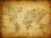 Antica mappa del mondo