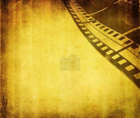 Photo pour Grunge fond de film avec espace pour le texte ou l'image - image libre de droit