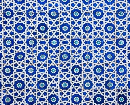 Photo pour Arrière-plan carrelé, ornements orientaux d'Ouzbékistan - image libre de droit