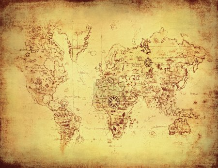 Photo for Ancient map of the world - Royalty Free Image