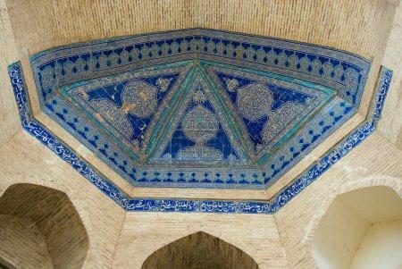 Photo pour Dôme de la mosquée, des ornements orientaux de khiva, Ouzbékistan - image libre de droit