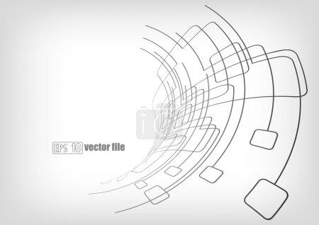 Illustration pour Fond vectoriel abstrait, lignes, circuits - image libre de droit