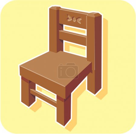 Illustration for Chair cartoon - Royalty Free Image