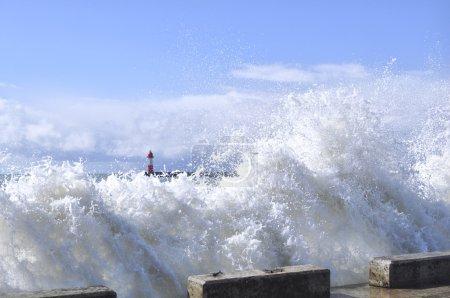 Storm in port