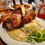 Fried Pig Knee. National dish of Czech.