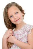 Portrait of cute litte girl.